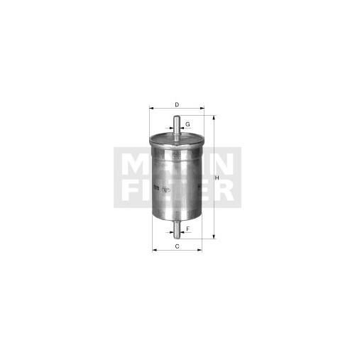 WK 612 MANN Brændstoffilter