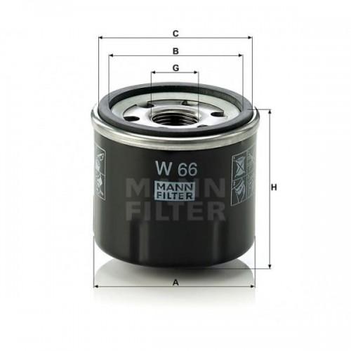 W66 - MANN Oliefilter