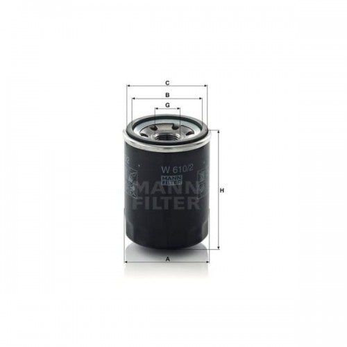W610/2 - MANN Oliefilter