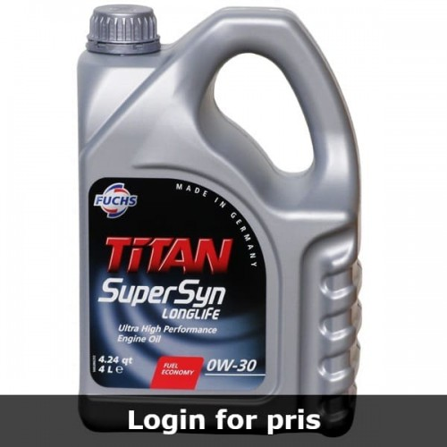 Motorolie Fuchs Titan Supersyn Longlife 0W-30 (4 Liter)